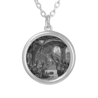 Input of an old high school by Giovanni Battista Silver Plated Necklace