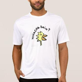 Inquisitive Chicken Microfiber T T-Shirt