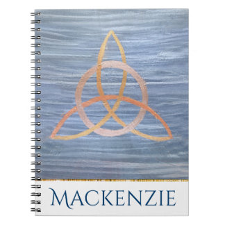 Inquisitive Office | Name Gold Blue Trinity Celtic Notebooks