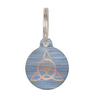 Inquisitive Pet | Name Blue Copper Gold Trinity Pet Name Tag