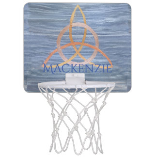 Inquisitive Play | Name Blue Gold Celtic Trinity Mini Basketball Hoop