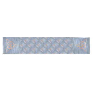 Inquisitive Table | Blue Gold Celtic Trinity Knot Medium Table Runner