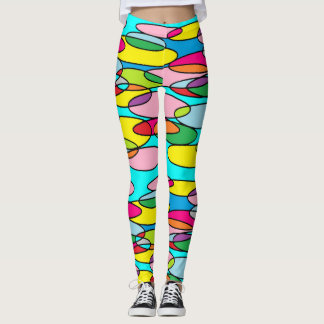 Insane Colorful Oval Doodles Leggings