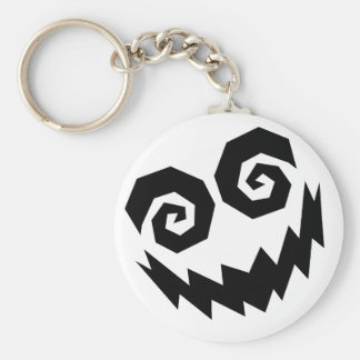 Insane In The Face White+Black Keychain
