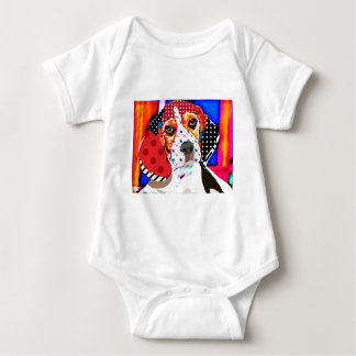 Insane person for Beagle Baby Bodysuit