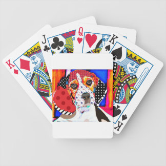 Insane person for Beagle Bicycle Playing Cards