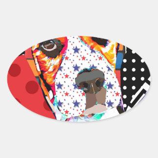 Insane person for Beagle Oval Sticker