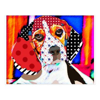 Insane person for Beagle Postcard