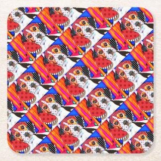 Insane person for Beagle Square Paper Coaster