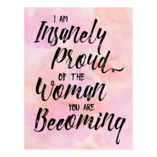 insanely proud of you postcard