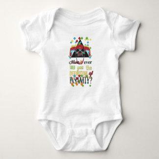insanity and scary skull baby bodysuit