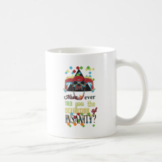 insanity and scary skull coffee mug