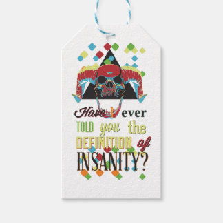 insanity and scary skull gift tags