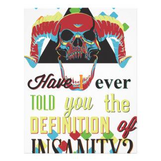 insanity and scary skull letterhead