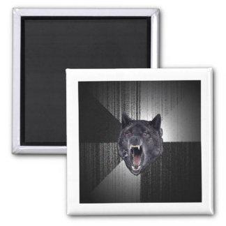 Insanity Wolf Advice Animal Meme Square Magnet