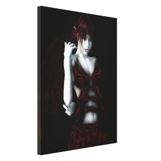 Insatiable Vampire Gothic Girls Pinup Art Canvas Print