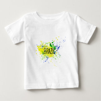 Inscription Brazil on background watercolor stains Baby T-Shirt