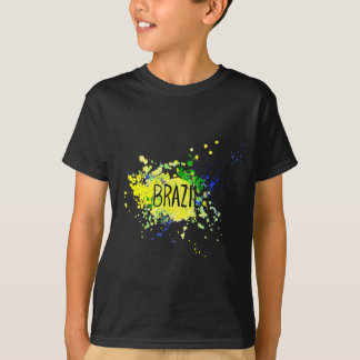 Inscription Brazil on background watercolor stains T-Shirt