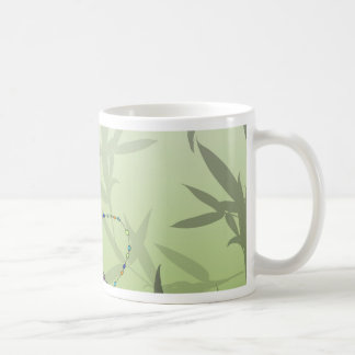 Insect Bamboo leaves Green Unique Pattern Coffee Mug