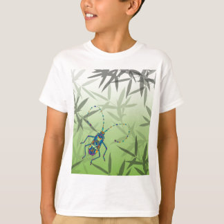 Insect Bamboo leaves Green Unique Pattern T-Shirt