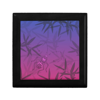 Insect Bamboo leaves Pink and Blue Unique Pattern Gift Box