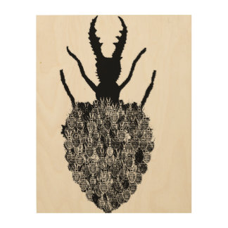 Insect Collection Wood Print