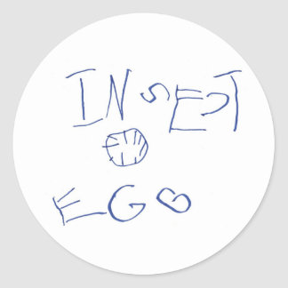 Insect Egg crop Round Sticker