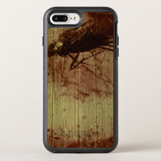 Insect in amber stone on wooden background | OtterBox symmetry iPhone 7 plus case