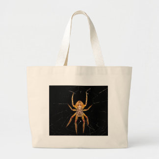 insect macro spider colombia large tote bag