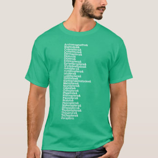 Insect Order Helvetica List Tee