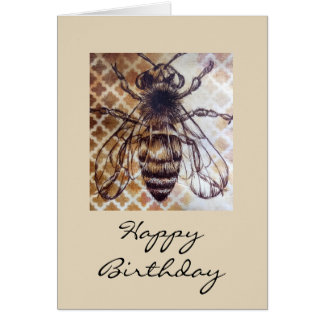 Insect Vintage Birthday Card