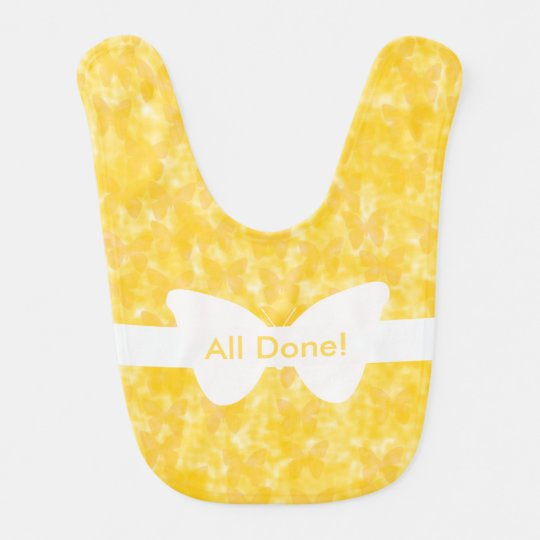 Insect Yellow Butterflies Baby Bibs