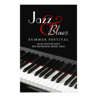 Insecte de concert de musique de bleus de jazz de prospectus 14 cm x 21,6 cm