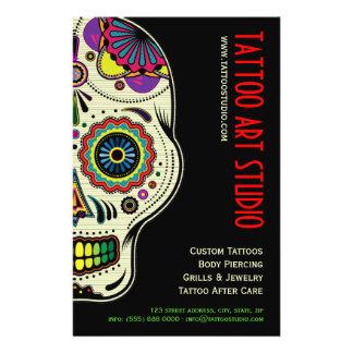 Insecte de magasin d art de tatouage prospectus avec motif