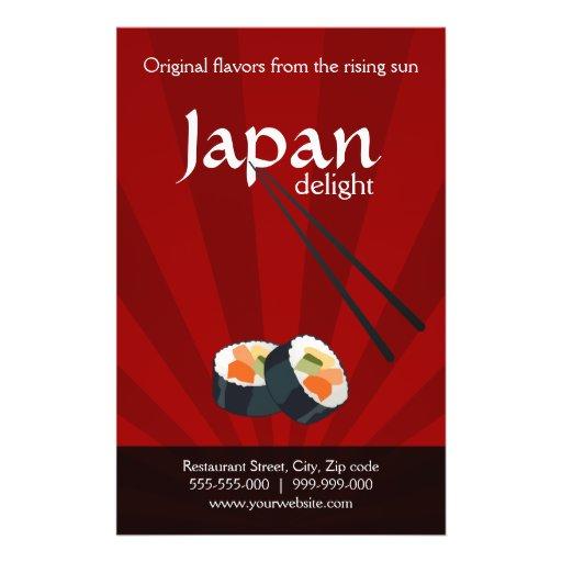 Insecte de restaurant japonais prospectus en couleur