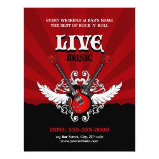 Insecte vivant de concert partie de musique rock prospectus personnalisés