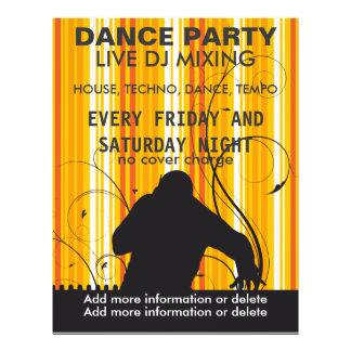 Insecte vivant de musique du DJ de soirée dansante Prospectus Personnalisés