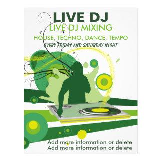 Insecte vivant du DJ de grunge verte Tract Personnalisé