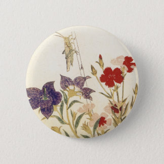 Insects and Flowers by Utamaro 2 Inch Round Button
