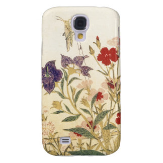 Insects and Flowers by Utamaro Galaxy S4 Case