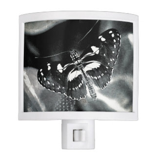Insects Butterfly Butterflies B&W Night Light