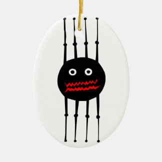Insects fun cool graphic spider ceramic oval ornament