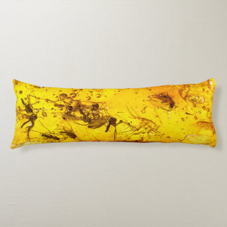 Insects in amber body pillow