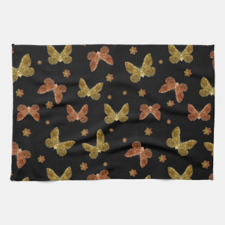 Insects Motif Pattern Kitchen Towel