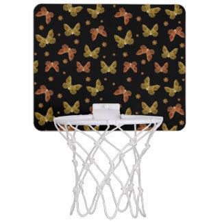 Insects Motif Pattern Mini Basketball Backboard