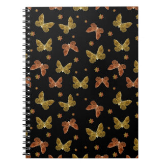 Insects Motif Pattern Spiral Notebook