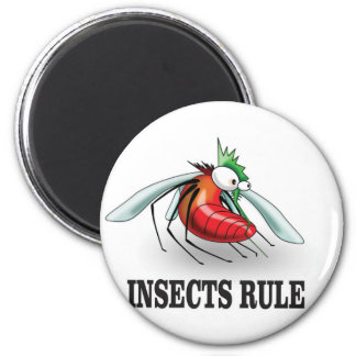 insects rule 2 inch round magnet