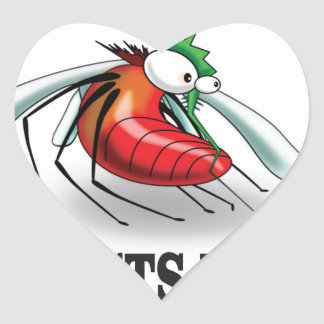 insects rule heart sticker