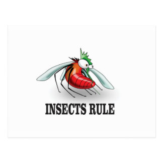 insects rule postcard