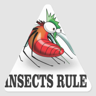insects rule triangle sticker